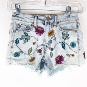 🍁Aeropostale High Waisted Midi Jean Shorts